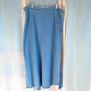 J. JILL Ltd. Denim Maxi Skirt Size 2X